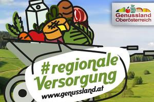 Sujet Regionale Versorgung - Scheibtruhe mit regionalen Produkten