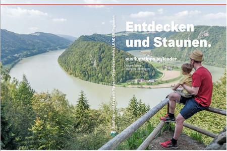 Titelseite des Ausflugsführers mit einem Foto der Schlögener Schlinge